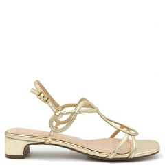 Gold multistrap sandal