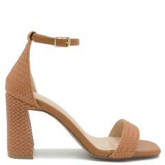 Camel woven sandal