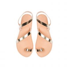 Kid's gold leather sandal