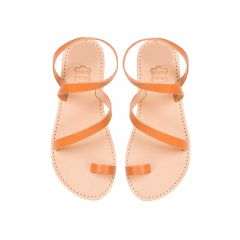 Kid's tobacco leather sandal
