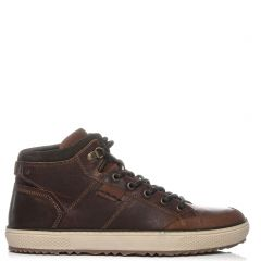 Mens tan sneaker boot