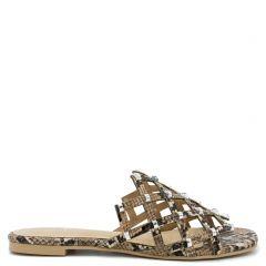 Beige snakeskin sandal
