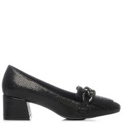 Black metallic loafer