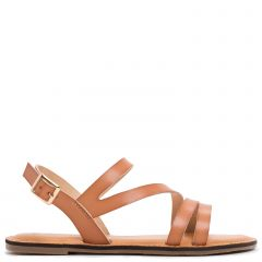 Camel sandal with straps