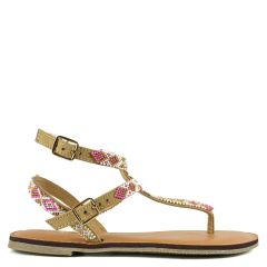 Beige sandal with beads