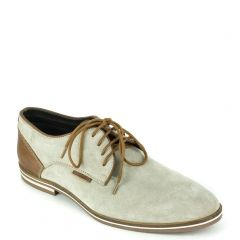 Men's  grey leather oxford