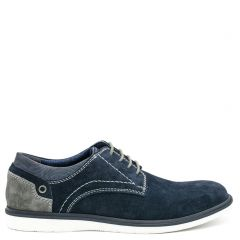 Men's navy suede derby