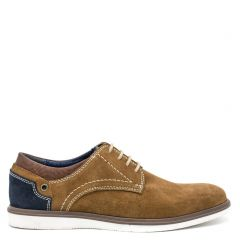 Men's tan suede derby