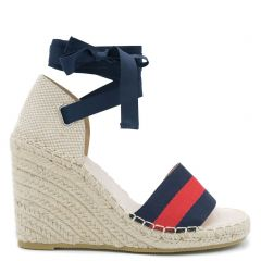 Espadrille with blue-red band