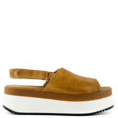 Camel leather platform