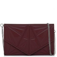 Burgundy patent textured envelope