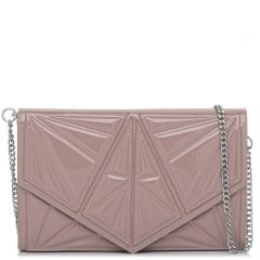 Nude patent textured envelope