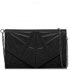 Black patent textured envelope