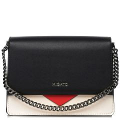Black & white shoulder bag