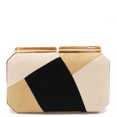 Nude multicolor clutch suese textured