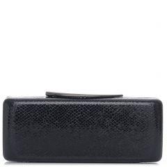 Μαύρο clutch με υφή lizard