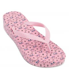 Pink flip flop with decorative print