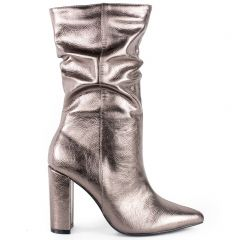 Pewter slouchy boot