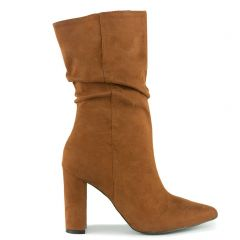 Orange slouchy boot