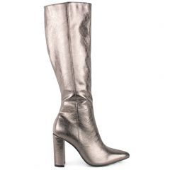 Pewter knee-high boot