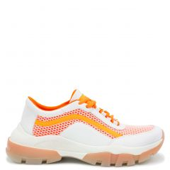 Orange monster sole sneaker