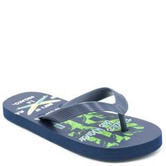 Kid's navy flip-flop with insole print