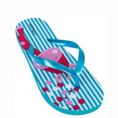 Kid's light blue flip flops