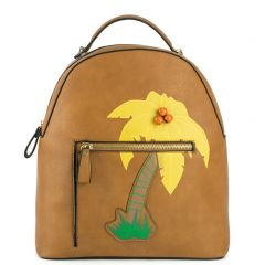 Tabacco backpack with palmtree design
