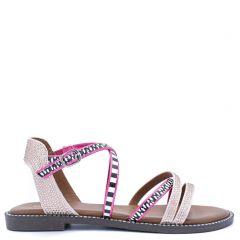 Pink multistrap sandal