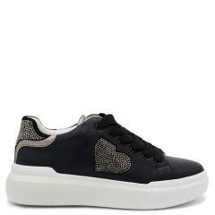 Black chunky sole sneaker