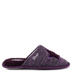 Purple slipper with star