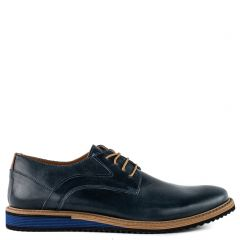 Mens blue leather oxford