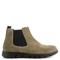 Men's taupe suede leather boot