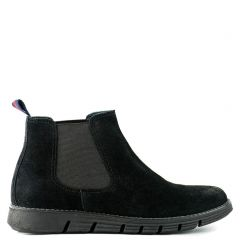 Men's black suede leather boot
