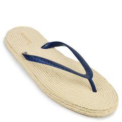 Blue flip-flop with glitter