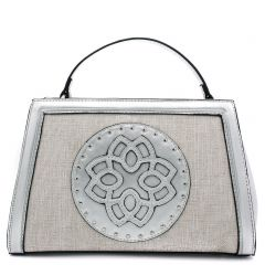 Silver metallic handbag