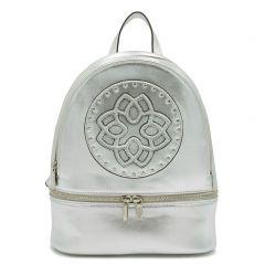 Ασημί μεταλλική τσάντα πλάτης