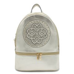Light gold metallic backpack