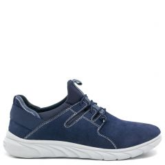 Men's navy suede casual shoe