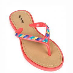 Kid's coral flip flops
