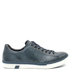 Men's navy leather sneaker