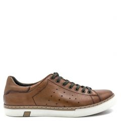 Men's tan leather sneaker
