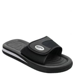 Men's black flip flop with velcro band