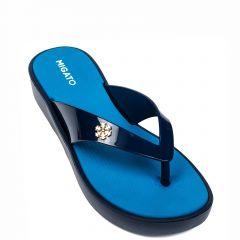 Women's blue flip-flop