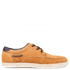 Men's tobacco leather espadrille