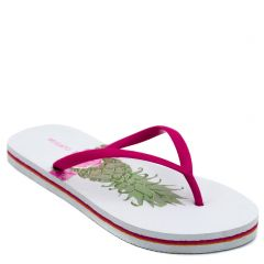 Women's flip-flop with fuchsia thong and pineapple print