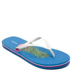 Women's flip-flop with white thong and pineapple print