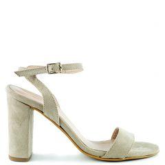 Beige suede sandal