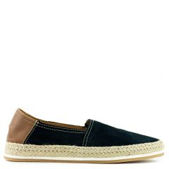 Men's blue leather espadrille