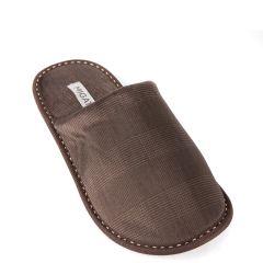 Brown men's slipper